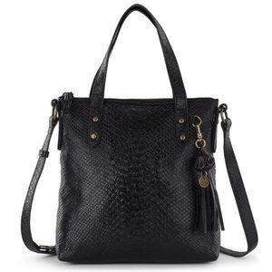 NWT The Sak Black Sophie Leather Satchel